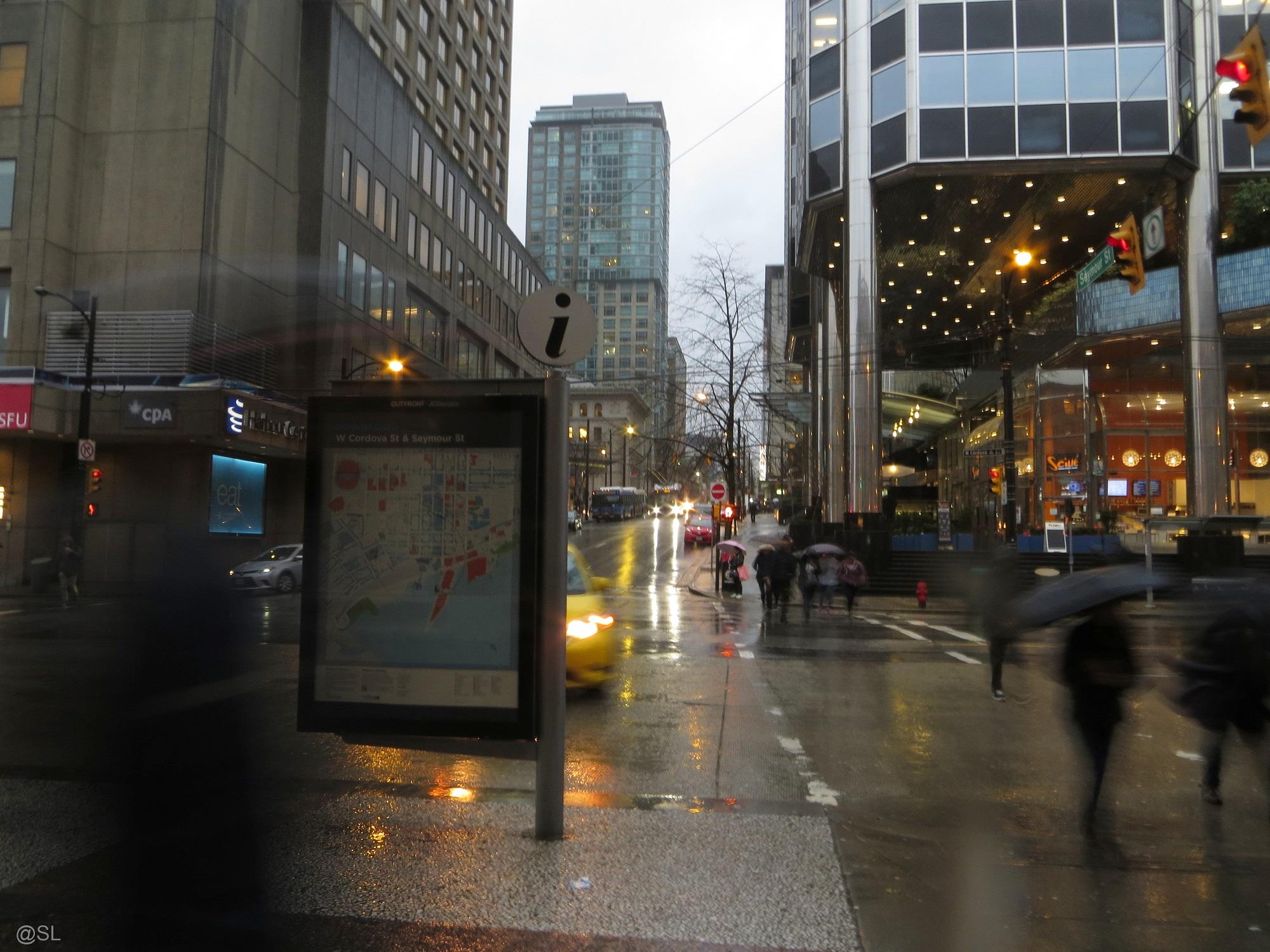 Street in the rain